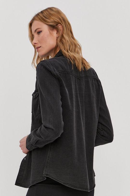 čierna Vero Moda - Bavlnená košeľa
