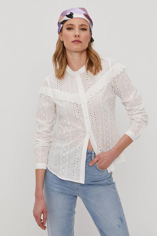 Vero Moda - Bavlnená košeľa biela