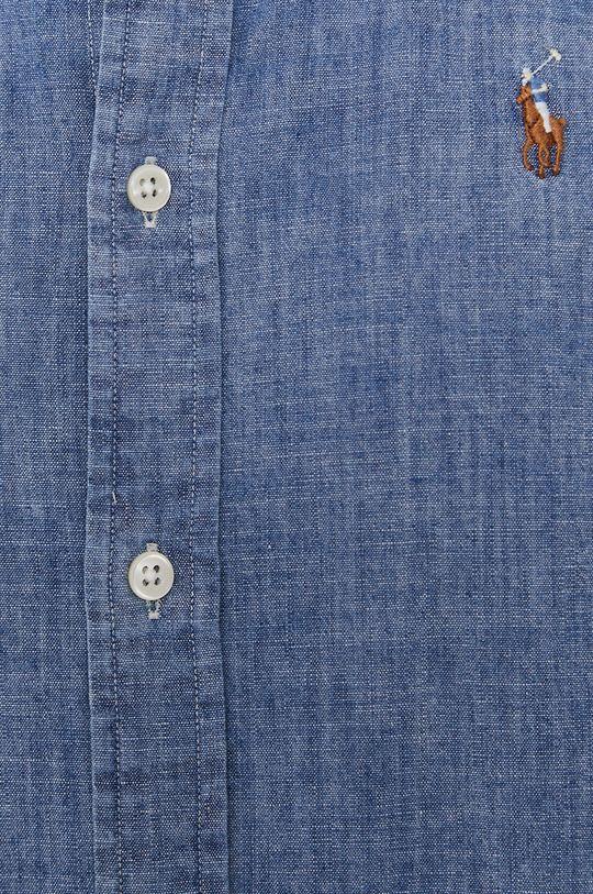 Polo Ralph Lauren - Camasa din bumbac albastru deschis