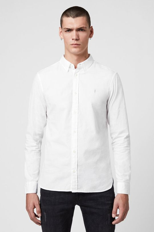 biały AllSaints - Koszula Redondo LS Shirt Męski