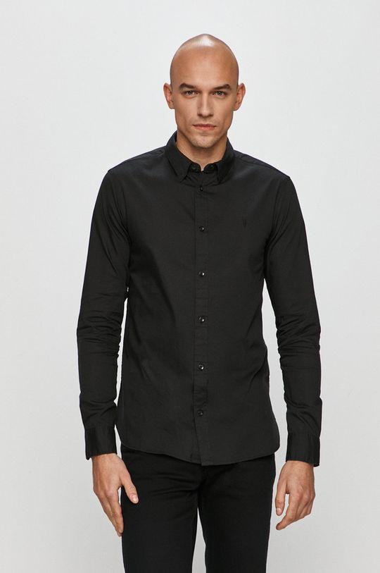 czarny AllSaints - Koszula Redondo LS Shirt Męski