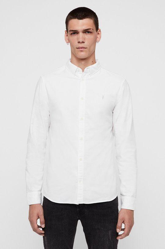 biały AllSaints - Koszula Hungtingdon Męski