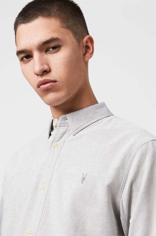 AllSaints - Koszula Hungtingdon jasny szary