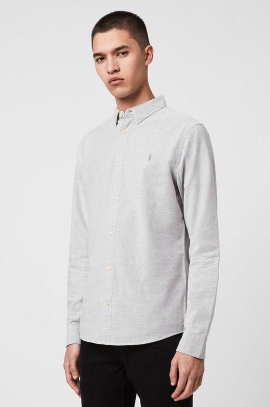 jasny szary AllSaints - Koszula Hungtingdon