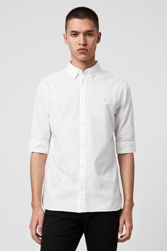 bílá AllSaints - Košile Redondo HS Shirt Pánský