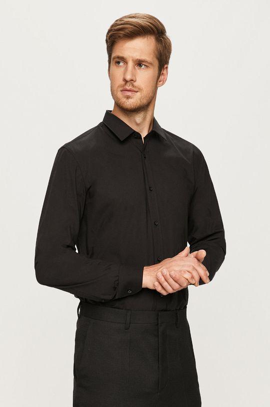 czarny Hugo - Koszula Męski