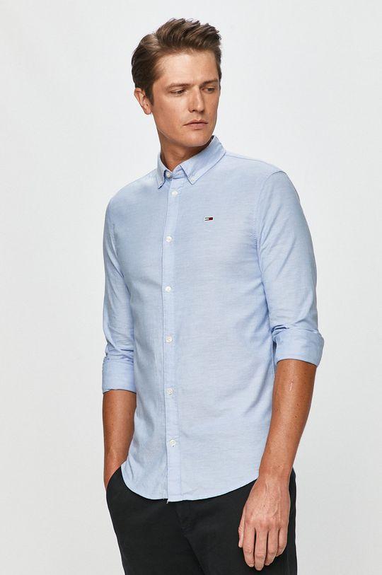modrá Tommy Jeans - Košile Pánský