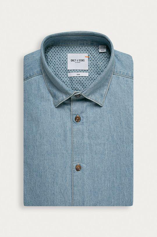 modrá Only & Sons - Džínová košile Pánský