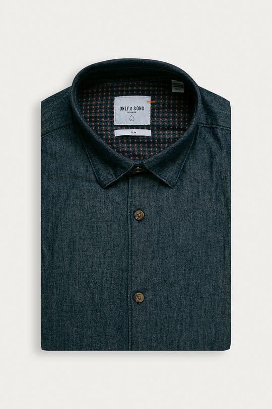 granatowy Only & Sons - Koszula jeansowa Męski