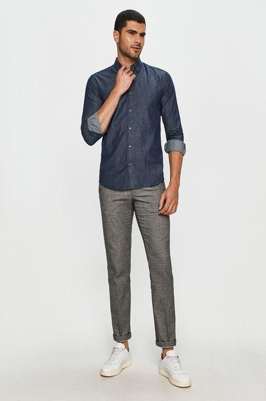 granatowy Only & Sons - Koszula jeansowa