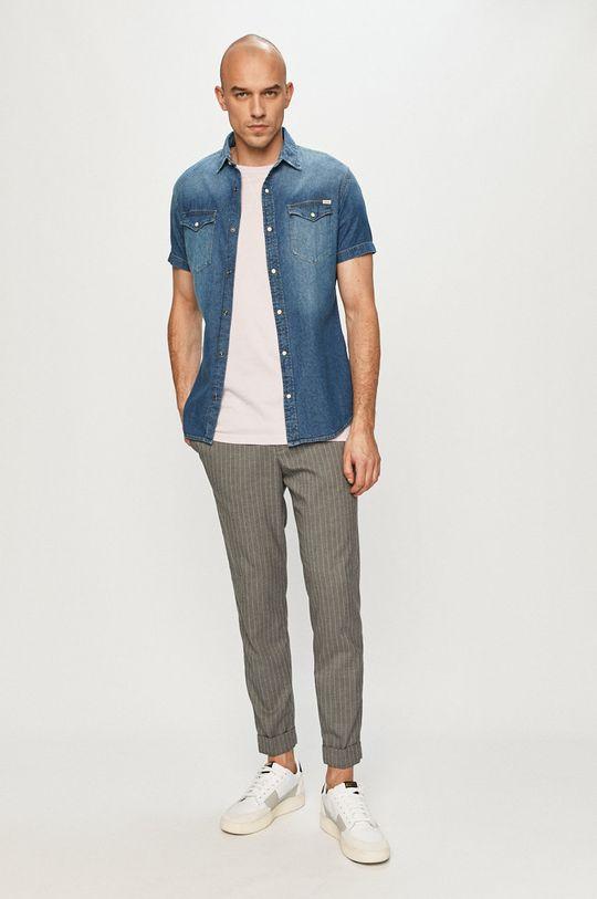 Jack & Jones - Koszula jeansowa 100 % Bawełna