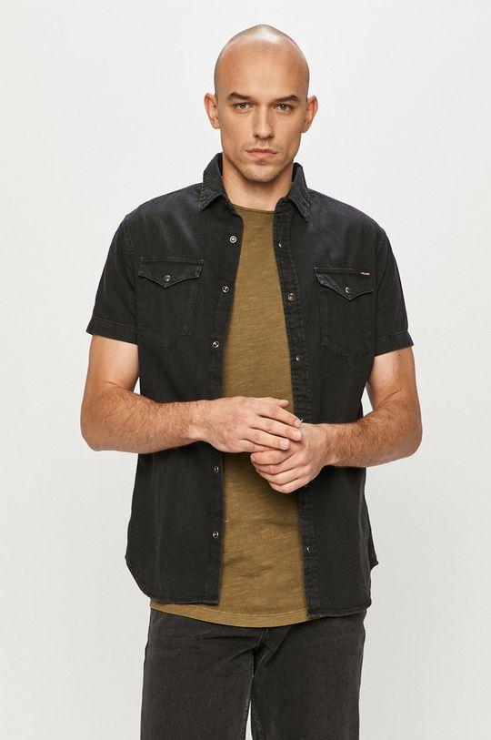 czarny Jack & Jones - Koszula jeansowa Męski