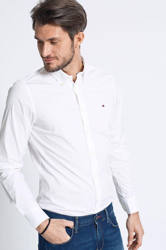 bílá Tommy Hilfiger - Košile Stretch Poplin Pánský