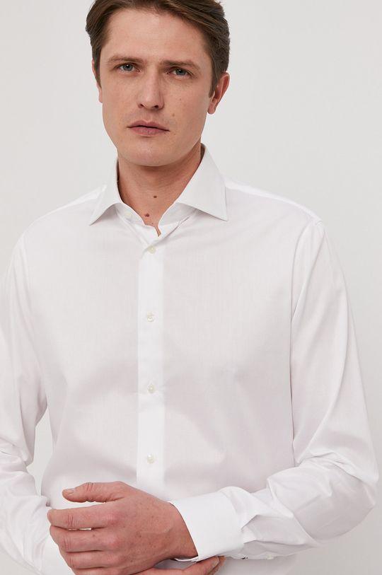 biela Tommy Hilfiger Tailored - Bavlnená košeľa Pánsky