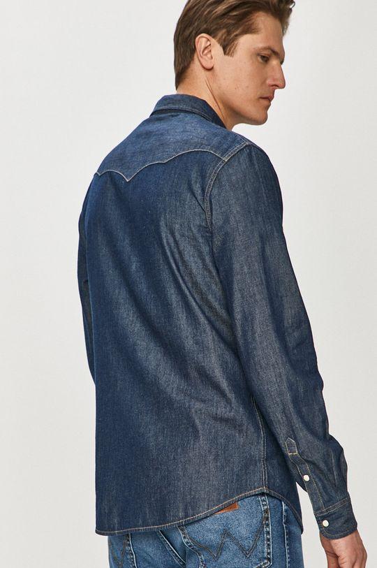 granatowy Wrangler - Koszula bawełniana