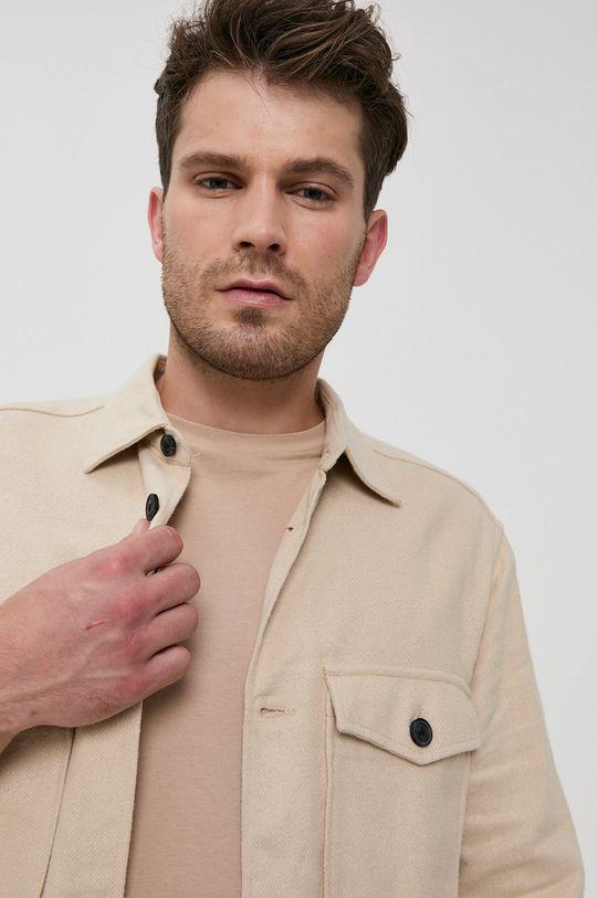 piaskowy Only & Sons - Koszula bawełniana