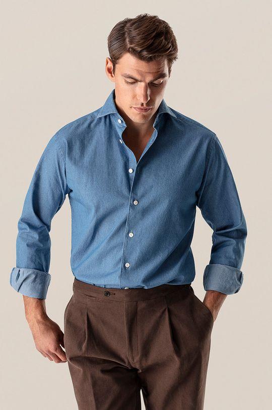 niebieski ETON - Koszula Męski