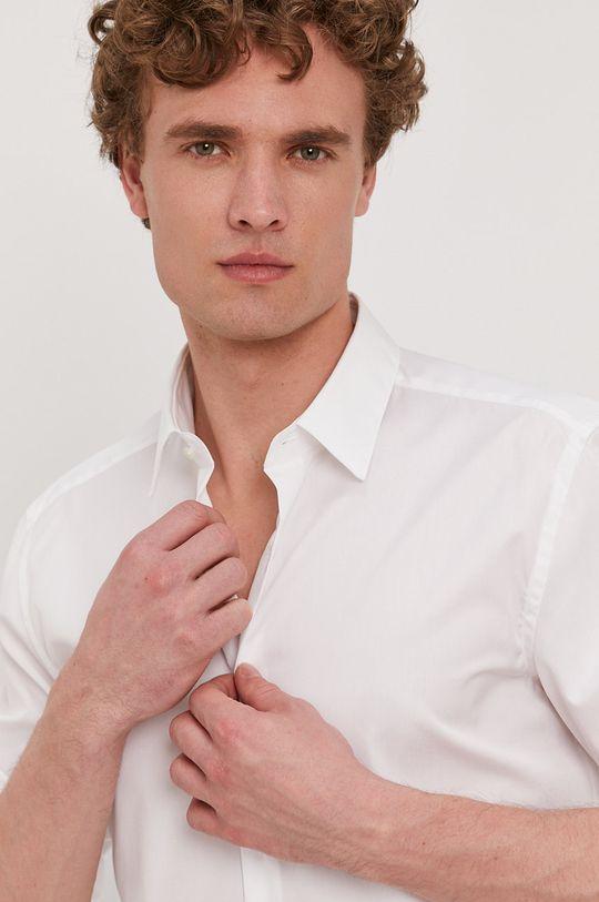 biela Boss - Bavlnená košeľa Pánsky