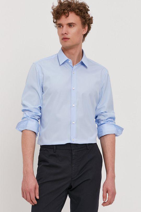 albastru pal Boss - Camasa din bumbac De bărbați