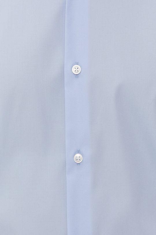 Boss - Camasa din bumbac albastru pal