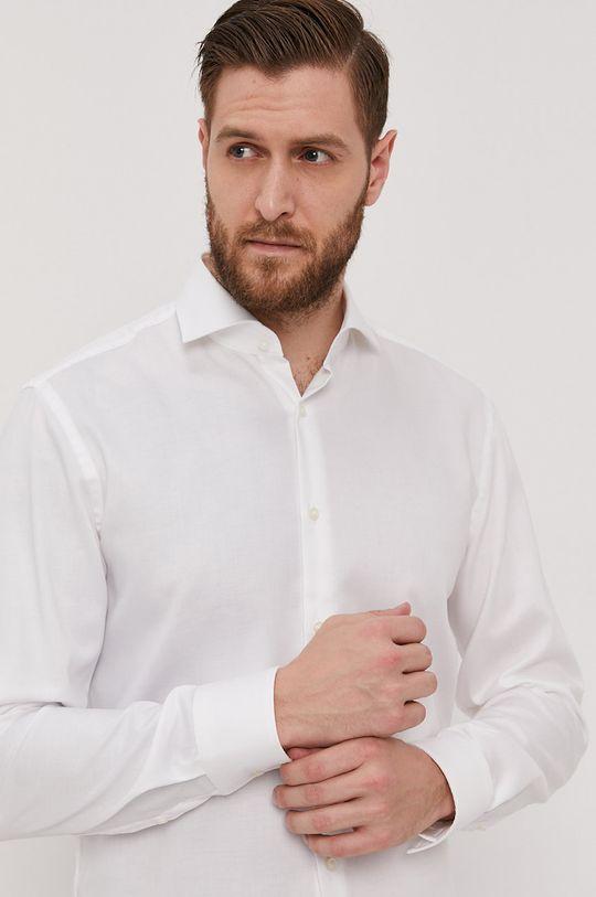 bílá Boss - Bavlněné tričko Pánský