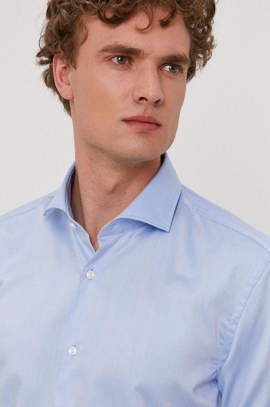 světle modrá Boss - Bavlněná košile Pánský