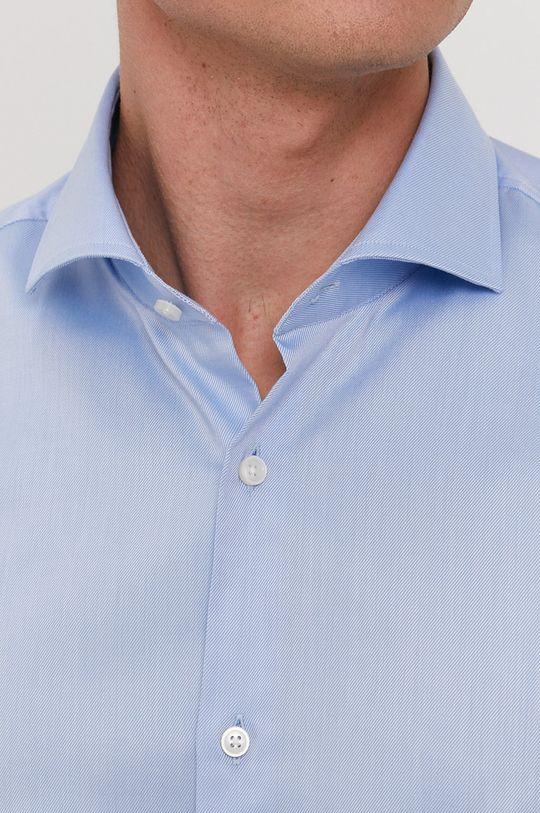 Boss - Bavlněná košile světle modrá