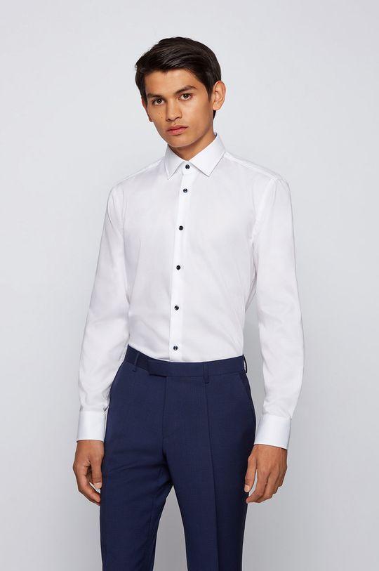 biały Boss - Koszula bawełniana Męski