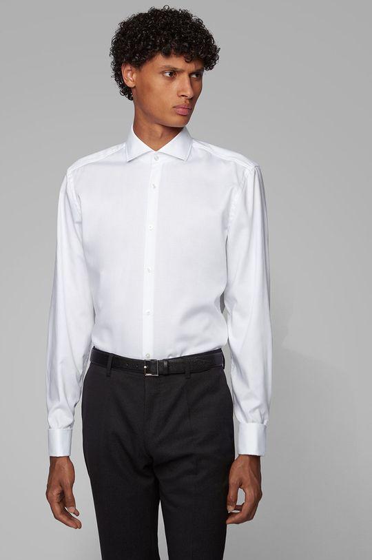 alb Boss - Camasa din bumbac De bărbați