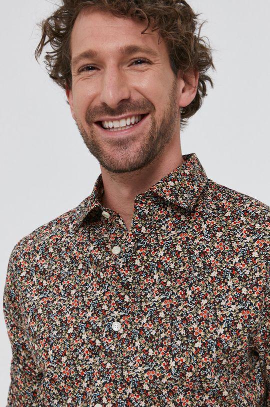 viacfarebná Selected - Bavlnená košeľa Pánsky