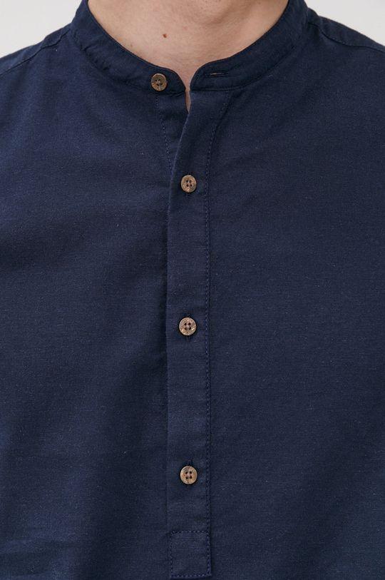 Jack & Jones - Tričko s dlhým rukávom tmavomodrá