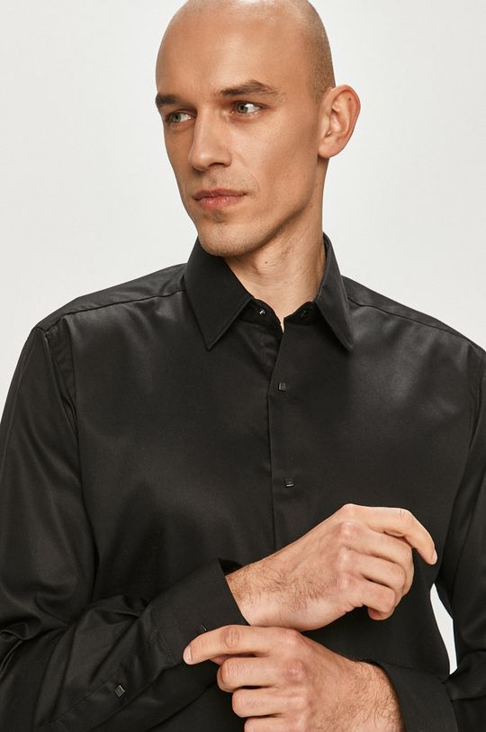 czarny Karl Lagerfeld - Koszula Męski