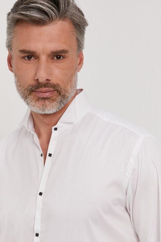 biały Karl Lagerfeld - Koszula bawełniana Męski
