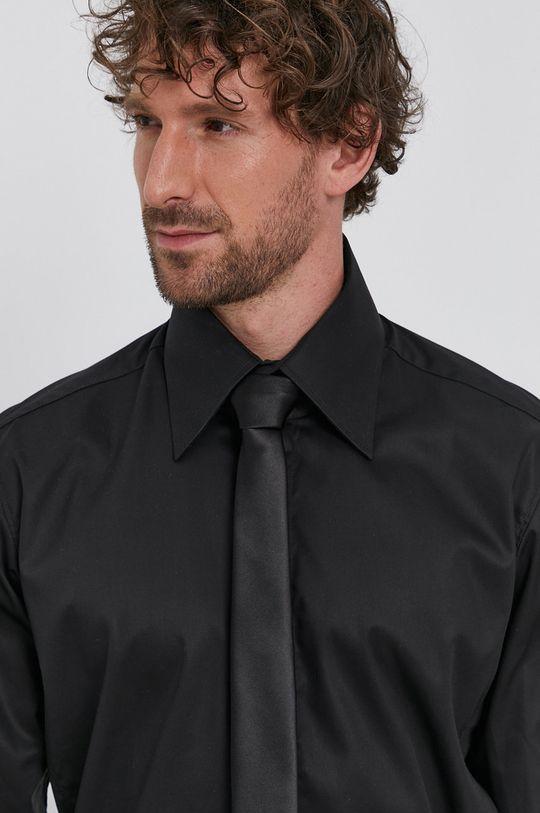 czarny Karl Lagerfeld - Koszula bawełniana Męski