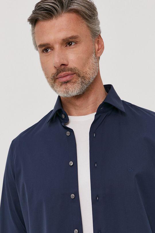 granatowy Calvin Klein - Koszula bawełniana Męski