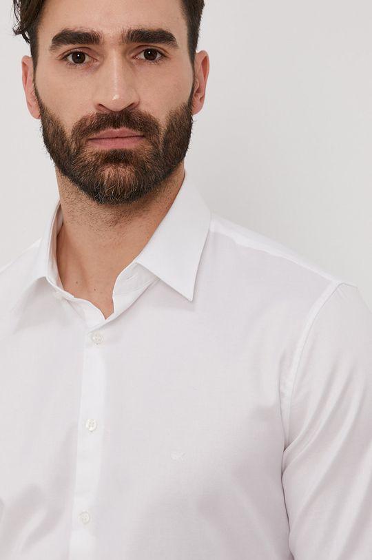biela Calvin Klein - Bavlnená košeľa Pánsky