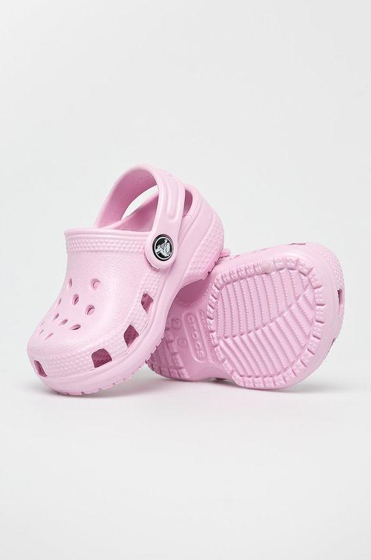 ostrá růžová Crocs - Dětské pantofle