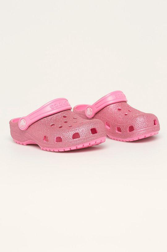 Crocs - Klapki dziecięce ostry różowy