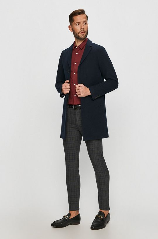Selected - Kabát námořnická modř