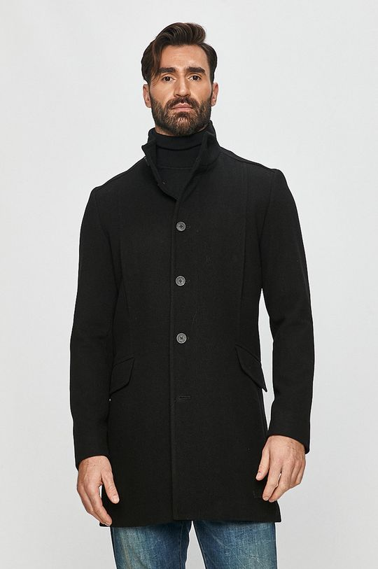 čierna Selected - Kabát Pánsky