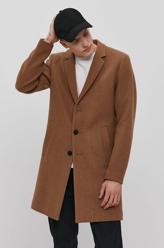 brązowy Jack & Jones - Płaszcz Męski