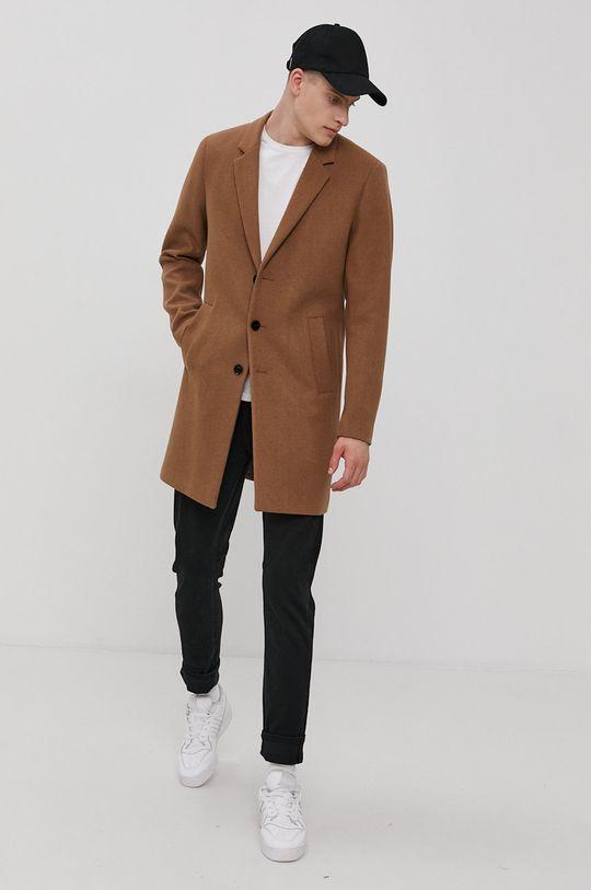 Jack & Jones - Płaszcz brązowy