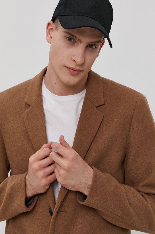 brązowy Jack & Jones - Płaszcz