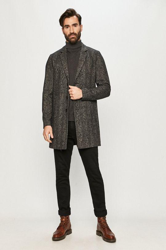 Jack & Jones - Płaszcz czarny