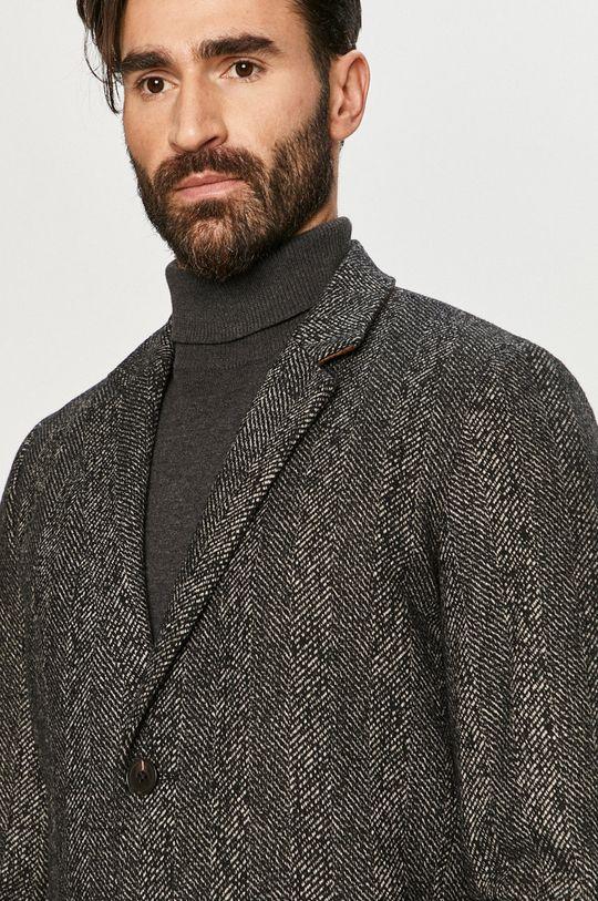 czarny Jack & Jones - Płaszcz