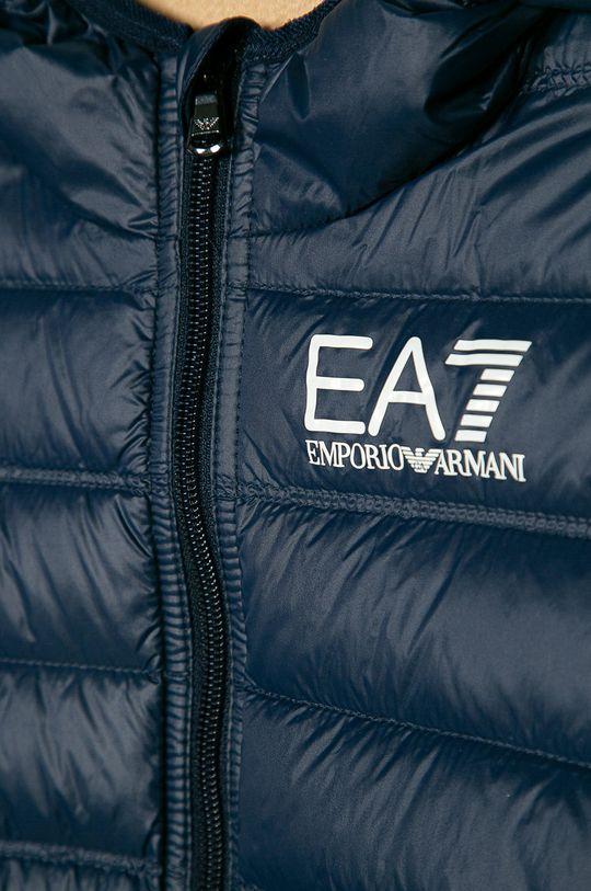 EA7 Emporio Armani - Detská páperová bunda 104-134 cm tmavomodrá
