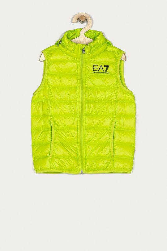 żółto - zielony EA7 Emporio Armani - Bezrękawnik dziecięcy 104-164 cm Chłopięcy