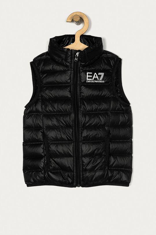 czarny EA7 Emporio Armani - Bezrękawnik dziecięcy 104-164 cm Chłopięcy