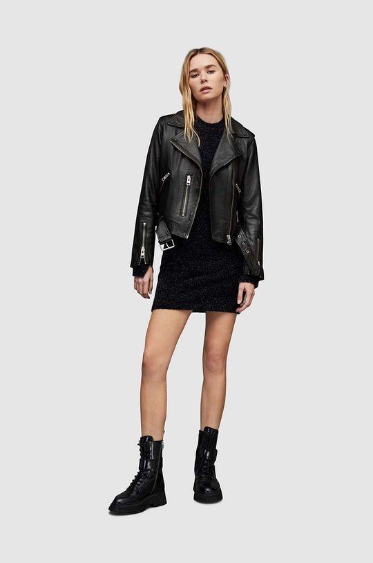 AllSaints - Kožená bunda Balfern Biker  100% Ovčí kůže
