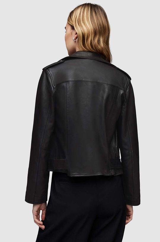 černá AllSaints - Kožená bunda Balfern Biker